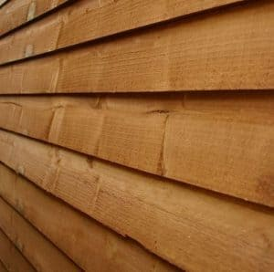 7x5 Waltons Overlap Pent Wooden Shed Cladding