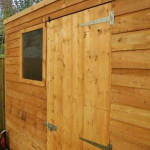 7x5 Waltons Overlap Pent Wooden Shed Closed External View
