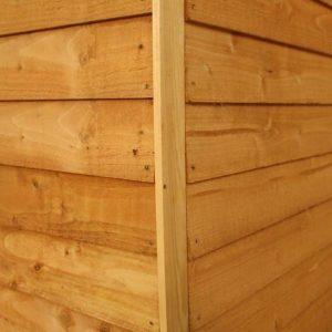 7x5 Waltons Overlap Pent Wooden Shed External Cladding