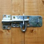 7x5 Waltons Overlap Pent Wooden Shed Padlockable Door