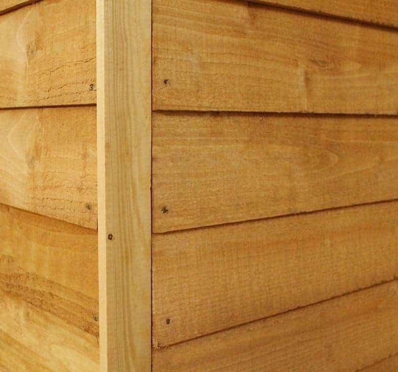 7x5 windsor overlap pent garden shed cladding