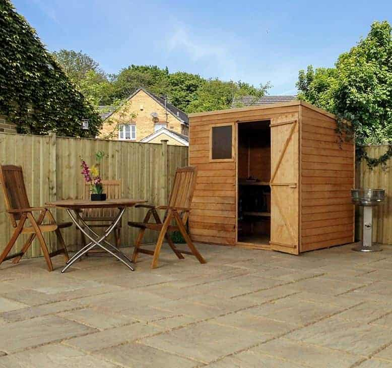 7x5 windsor overlap pent garden shed overall view