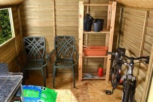 7x7 Shed Plus Pressure Treated Overlap Shed Inside View