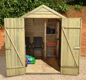 7x7 Shed Plus Pressure Treated Overlap Shed Overall View