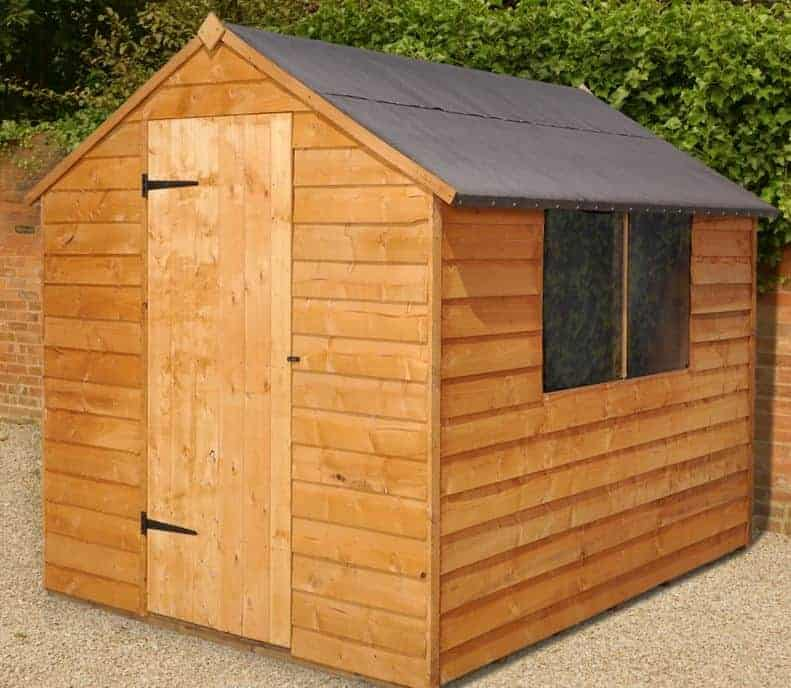8' X 6' Shed-Plus Overlap Apex Shed - No Floor