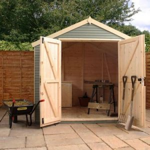 8 X 8 MERCIA ULTIMATE SHED Front Open Door
