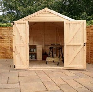 8 X 8 MERCIA ULTIMATE SHED Side