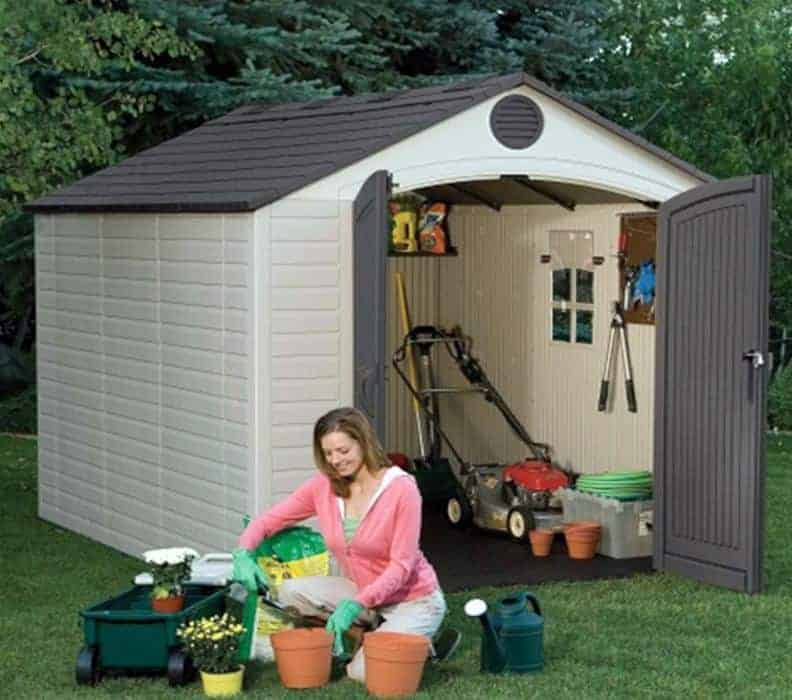 8' x 10' Lifetime Heavy Duty Plastic Shed