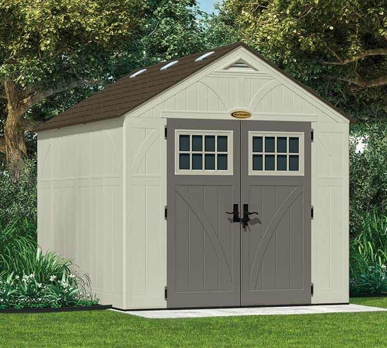 8 X 10 Suncast New Tremont Three Apex Roof Shed What Shed