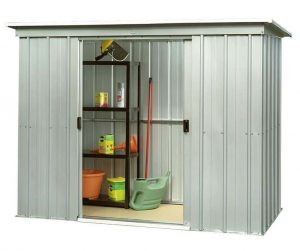 8' x 4' Yardmaster Pent Metal Shed 84PZ Open Door