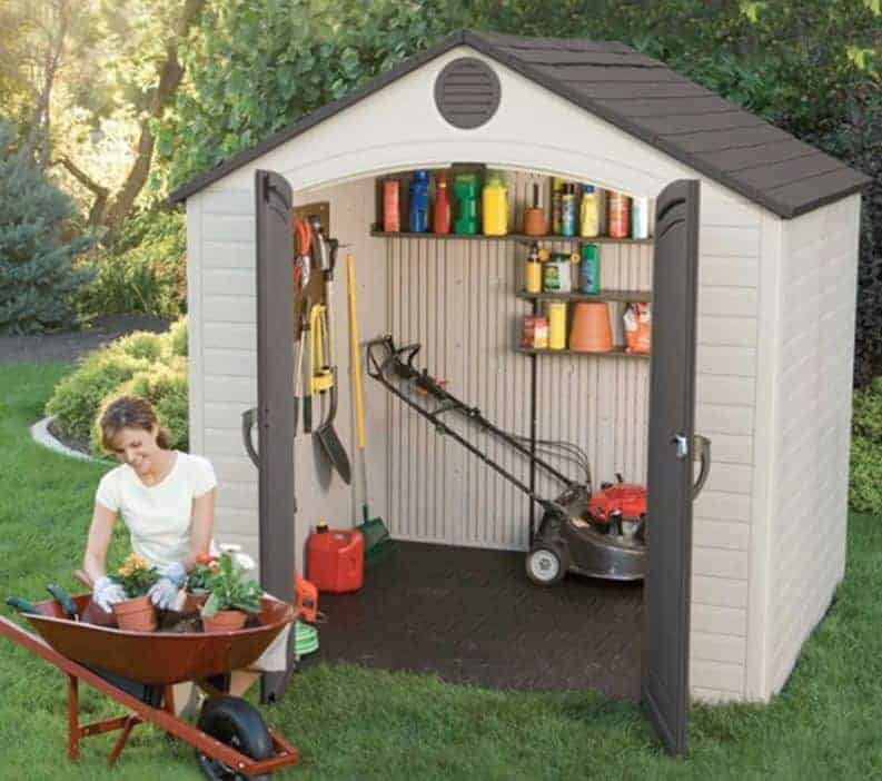 8' x 5' Lifetime Heavy Duty Plastic Shed