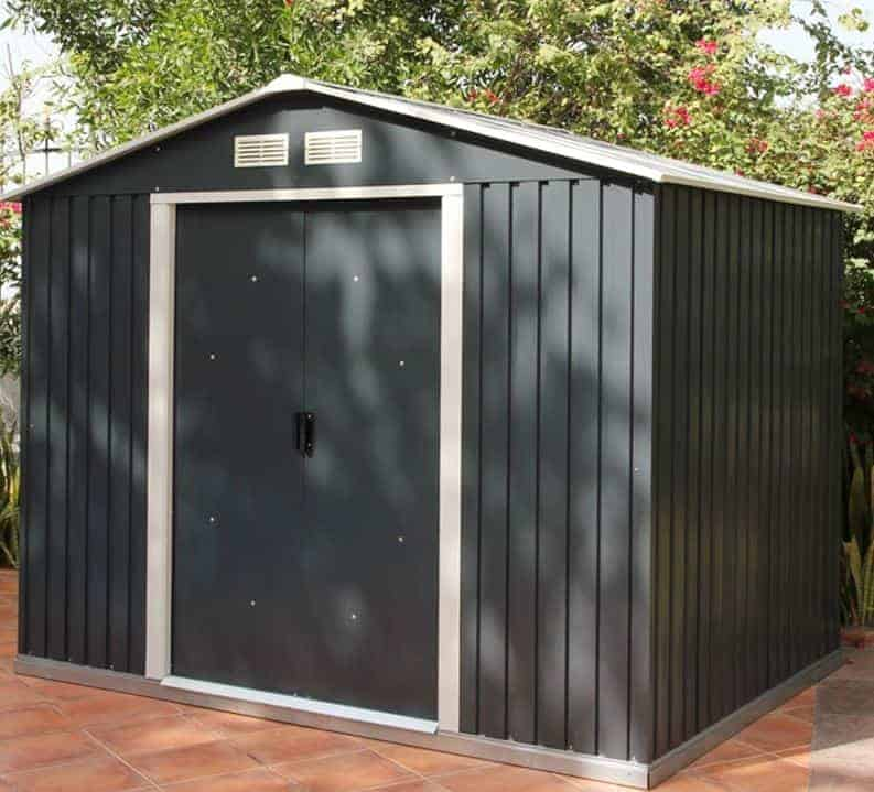 8' x 6' Metal Anthracite Shed by Store More