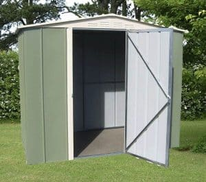 8' x 6' Shed Baron Grandale Apex Hinged Door Shed Metal Shed
