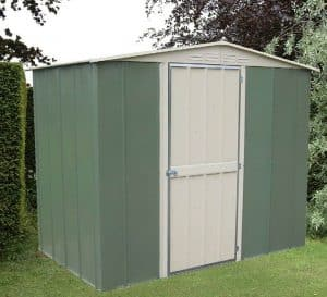 8' x 6' Shed Baron Grandale Apex Hinged Door Shed Metal Shed Closed Door