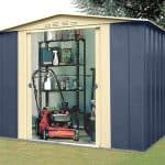 8' x 6' Shed Baron Grandale Mountain Blue Metal Shed