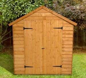 8' x 6' Shed-Plus Classic Overlap Double Door Shed Front View