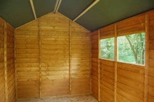 8' x 6' Shed-Plus Classic Overlap Double Door Shed Inside View