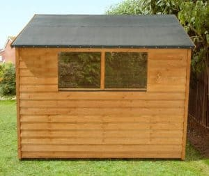 8' x 6' Shed-Plus Classic Overlap Double Door Shed Side View