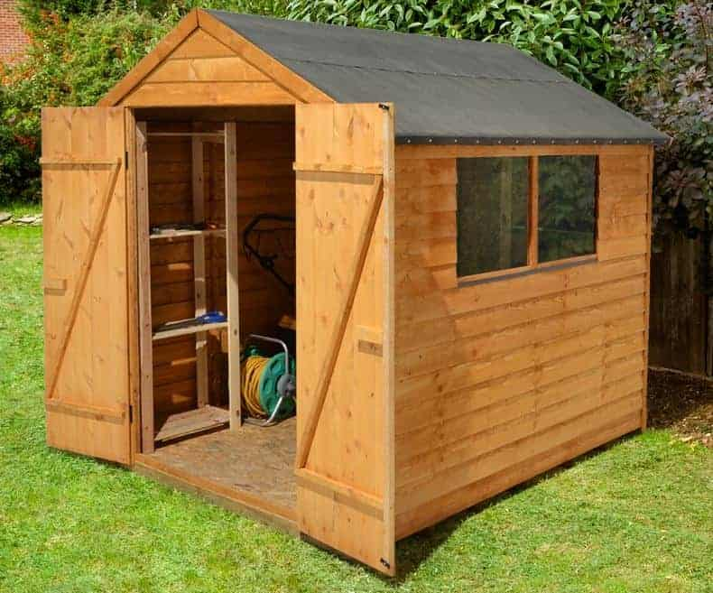 8u2032 X 6u2032 Shed Plus Classic Overlap Double Door Shed