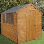 8' x 6' Shed-Plus Dutch Barn Shiplap Apex Roof
