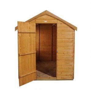 8' x 6' Shed-Plus Dutch Barn Shiplap Apex Roof Open Door