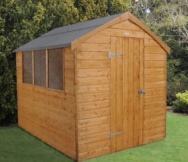 8' x 6' Shed-Plus Dutch Barn Shiplap Apex Roof
