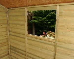 8' x 6' Shed-Plus Heavy Duty Shiplap Wooden Shed Internal View