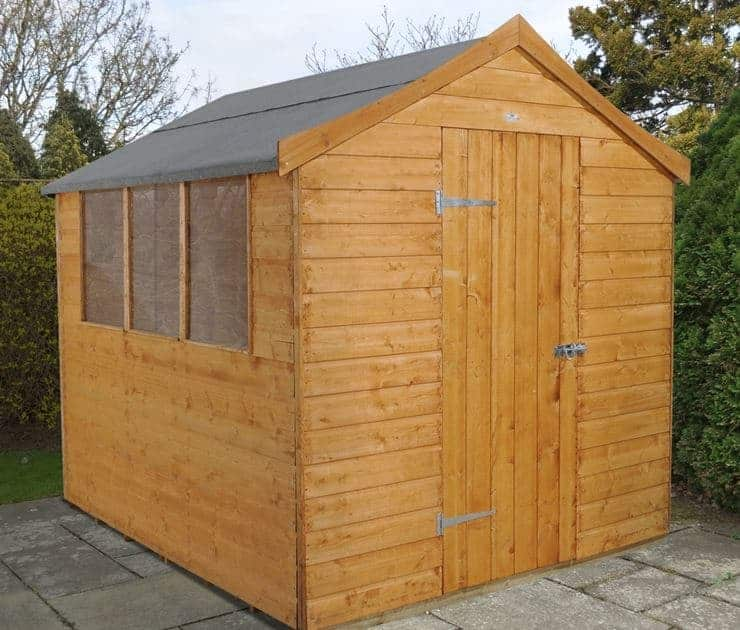 8' x 6' Shed-Plus Oriental Shiplap Apex Roof Shed
