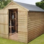 8' x 6' Shed-Plus Pressure Treated Overlap Security Shed