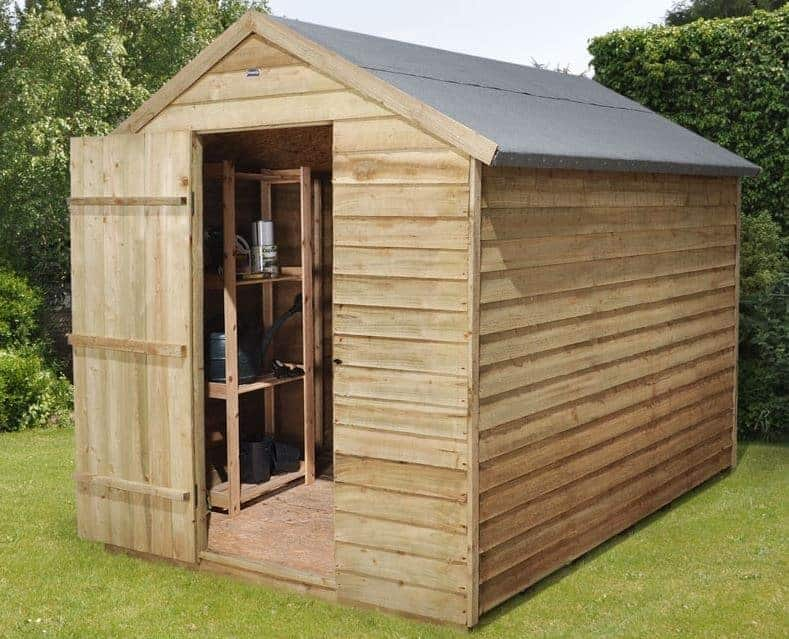 8 39 x 6 39 shed plus pressure treated overlap security shed. Black Bedroom Furniture Sets. Home Design Ideas