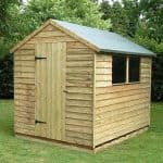 8' x 6' Shed-Plus Pressure Treated Overlap Shed