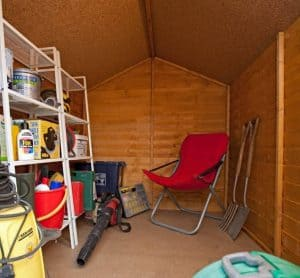 8' x 6' Shed-Plus SUPER SAVER Overlap Shed Inside View
