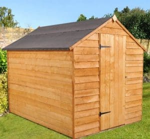8' x 6' Shed-Plus SUPER SAVER Overlap Shed Side View