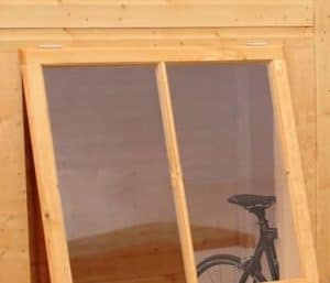 8' x 6' Shire Pent Shiplap Shed Window