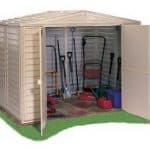 8 x 6 StoreMore Steel Framed Vinyl Apex Shed