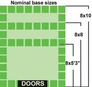 8 x 6 StoreMore Steel Framed Vinyl Apex Shed Nominal base size