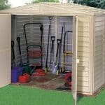 8 x 6 StoreMore Steel Framed Vinyl Apex Shed side