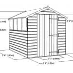 8 x 6 Tongue & Groove Apex Shed Sustainable Homes Code Compliant Overall Dimensions