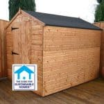 8 x 6 Tongue & Groove Apex Windowless Shed Sustainable Homes Code Compliant