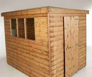 8' x 6' Traditional Standard Pent Shed Unpainted