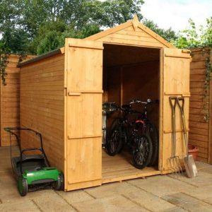 8 x 6 Waltons Shiplap+ Apex Wooden Garden Shed