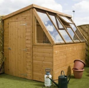 8 x 6 Waltons Tongue and Groove Potting Shed Wooden Greenhouse Overall View