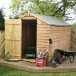 8 x 6 Waltons Ultra Value Overlap Apex Wooden Garden Shed