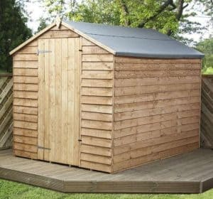 8 x 6 Waltons Ultra Value Overlap Apex Wooden Garden Shed Overall Appearance