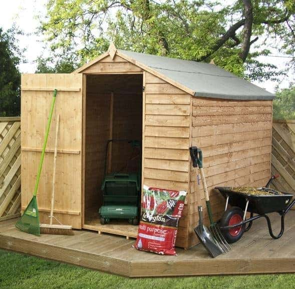 8 x 6 waltons ultra value overlap apex wooden garden shed for Garden shed homebase