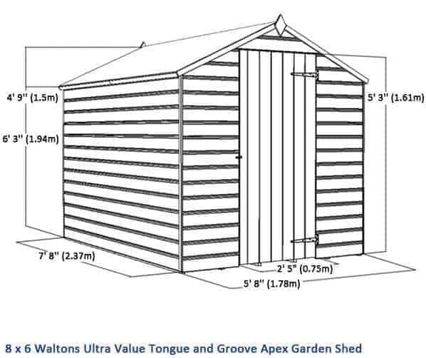 Garden Sheds 2 5 X 1 5