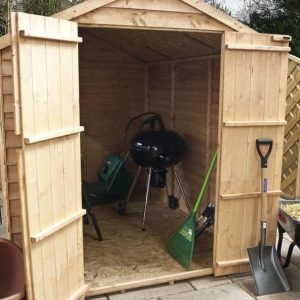 8 x 6 Waltons Windowless Overlap Apex Wooden Shed Internal View