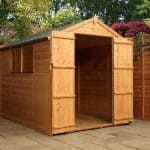 8' x 6' Windsor Double Door Shiplap Garden Shed
