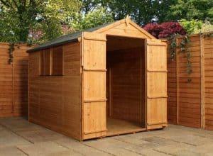 8' x 6' Windsor Double Door Shiplap Garden Shed