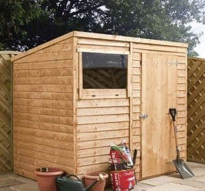 8' x 6' Windsor Overlap Pent Garden Shed Side View